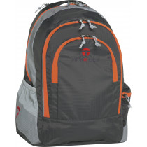 "Take-it-Easy Schulrucksack BERLIN ""Light Nylon"" grau/orange"