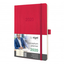 SIGEL Wochenkalender Conceptum 2020 Softcover ca. A6 rot C2034