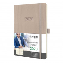 SIGEL Wochenkalender Conceptum 2020Softcover taupe ca. A6 C2031