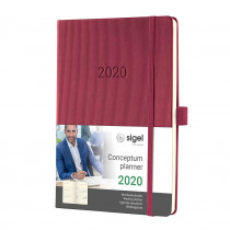 SIGEL Wochenkalender Conceptum 2020 ca.A5 Hardcover rosewood C2068