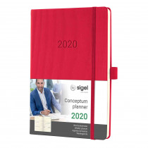 SIGEL Wochenkalender Conceptum 2020 ca.A5 Hardcover red C2064