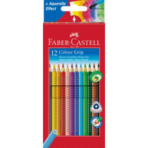 FABER-CASTELL Farbstift 12er Etui COLOUR GRIP
