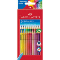 FABER-CASTELL Farbstift COLOUR GRIP 24er Etui