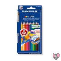 STAEDTLER Farbstifte 12er aquarell Noris Club mit Pinsel