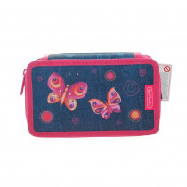 HERLITZ Federtasche Triple Etui 31-teilig butterfly dream