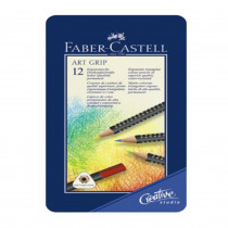 FABER-CASTELL Farbstift ART GRIP 12er Metalletui